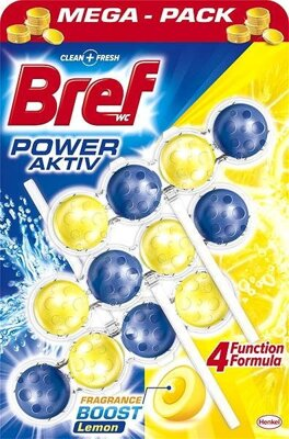 Bref wc blok power aktiv lemon 3*50 g